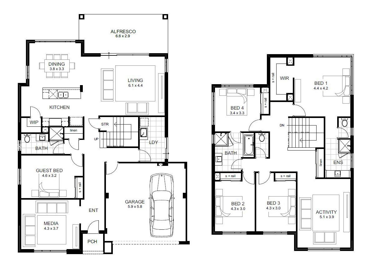 Beautiful 5 Bedroom House Designs Perth | Double Storey | Apg Homes pertaining to Unique Small 5 Bedroom House Plans