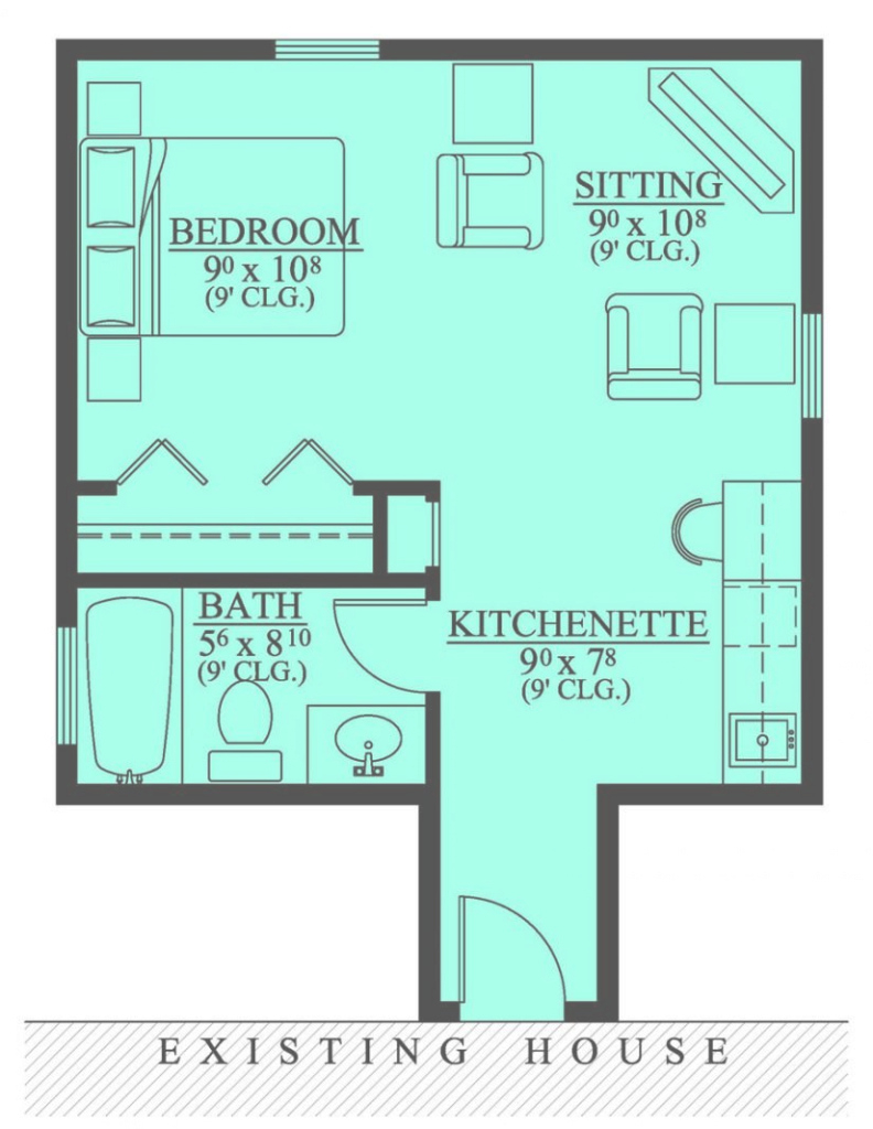 Beautiful 654185 - Mother In Law Suite Addition : House Plans, Floor Plans inside Set Free House Plans With Mother In Law Suite Stock