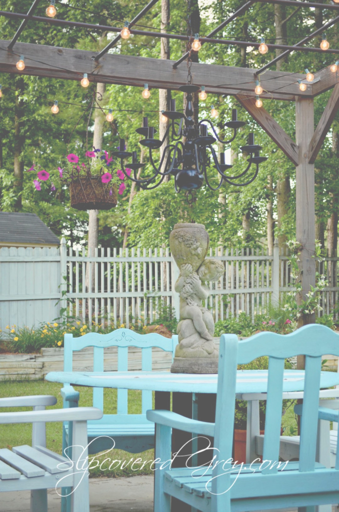 Beautiful A Little Backyard Paradise - Slipcovered Grey throughout Backyard Paradise