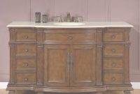 Beautiful Accord Antique 60 Inch Bathroom Single Sink Vanity Chestnut Finish throughout Elegant Bathroom Vanity 60 Single Sink