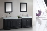 Beautiful Adorna 88 Inch Double Sink Bathroom Vanity Set With Trough Style Sinks throughout Bathroom Double Sink Cabinets