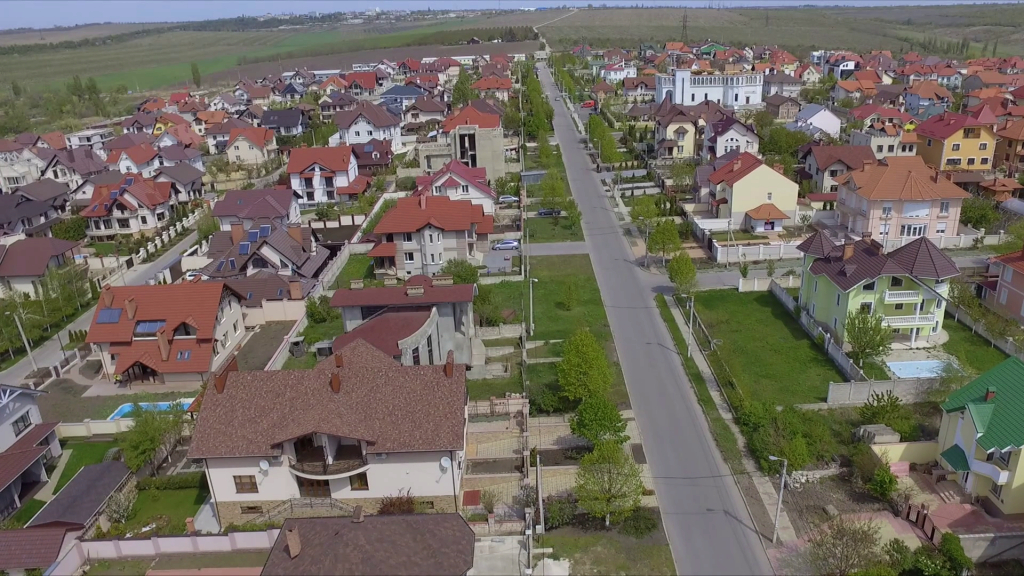 Beautiful Aerial View Of Suburban Bedroom Community In Chisinau, Moldova for Unique Bedroom Community
