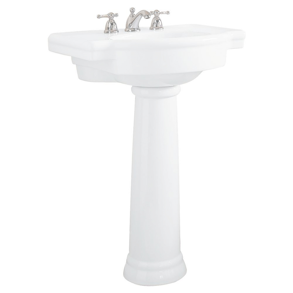 Beautiful American Standard Retrospect Pedestal Combo Bathroom Sink In White intended for Good quality Standard Bathroom Sink