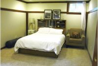 Beautiful Attractive Basement Bedroom Idea With Majestic Bed And Black Wood inside Lovely Small Basement Bedroom Ideas