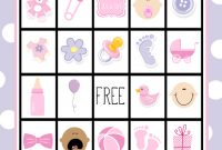 Beautiful Baby Shower Bingo Cards pertaining to Free Baby Shower Bingo
