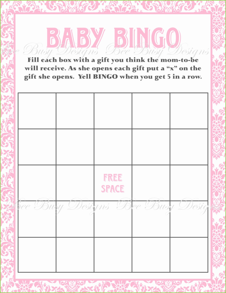 Beautiful Baby Shower Bingo Template Wonderfully Baby Bingo Cards Printable pertaining to Free Baby Shower Bingo