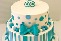 Beautiful Baby Shower Cakes: Blue Baby Shower Cake Recipe with regard to New Baby Shower Cake Recipes