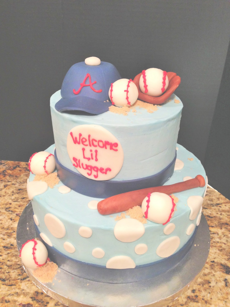 Beautiful Baby Shower Cakes | Brandi Cakes with regard to Fresh Baseball Baby Shower Cakes