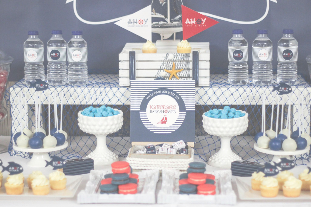Beautiful Baby Shower Decorations Nautical Theme | Baby Shower Ideas Gallery throughout Nautical Theme Baby Shower Decorations