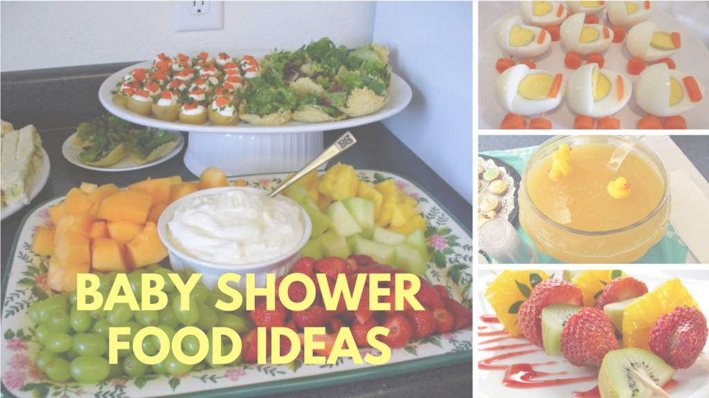 Beautiful Baby Shower Food Ideas On A Budget Theme And Decoration - Youtube pertaining to Baby Shower Food
