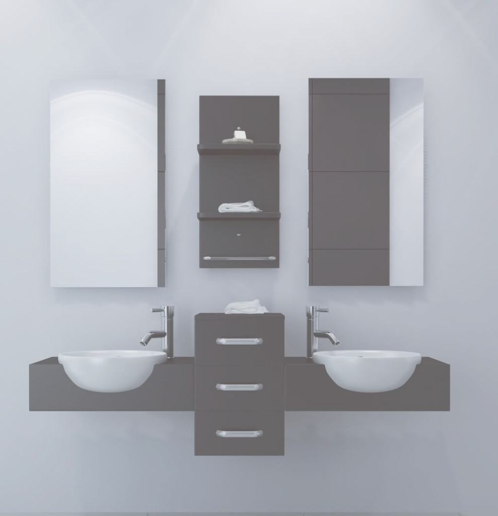 Beautiful Bathroom: Best Floating Bathroom Vanity Set With Double Sink And pertaining to Floating Bathroom Sink