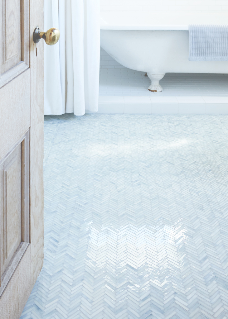 Beautiful Bathroom Of The Week: An Artist-Made Mosaic Tile Floor, Start To with regard to Blue Mosaic Bathroom