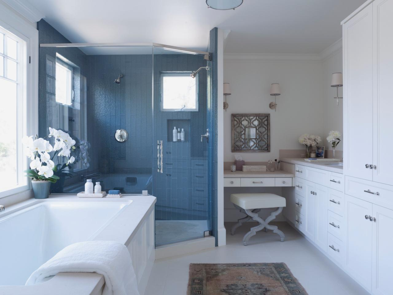 Beautiful Bathroom Remodel Strategies: High-Level Budgets | Diy intended for Unique Blue Bathroom Remodel