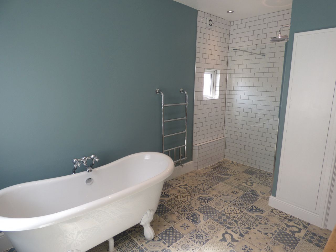 Beautiful Bathroom #troughsink #farrowandball #ovalroomblue #myhomevibe pertaining to Unique Oval Room Blue Bathroom
