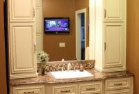 Beautiful Bathroom Vanities And Cabinets | Lenox Country Linen Cabinet pertaining to Bathroom Vanity Cabinet