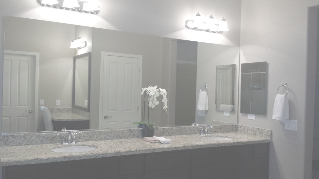 Beautiful Before And After: Customer Bathroom In Las Vegas | Frame My Mirror throughout Master Bathroom Mirrors