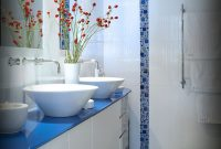 Beautiful Blue Glass Tile Bathroom – Behave2012 regarding Blue Glass Tile Bathroom