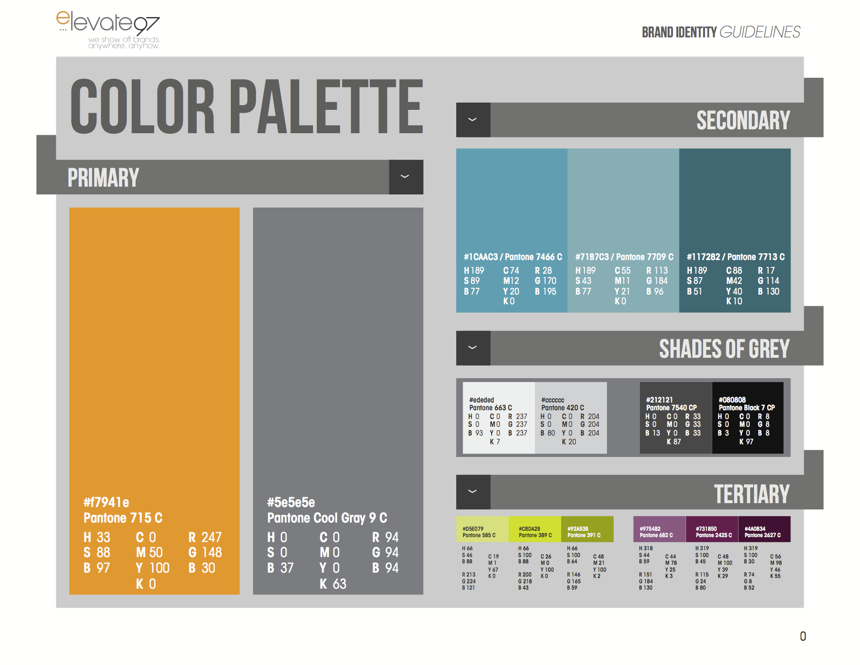 Beautiful Brand Standard Color Palette :: Elevate97 for Color Palette In R