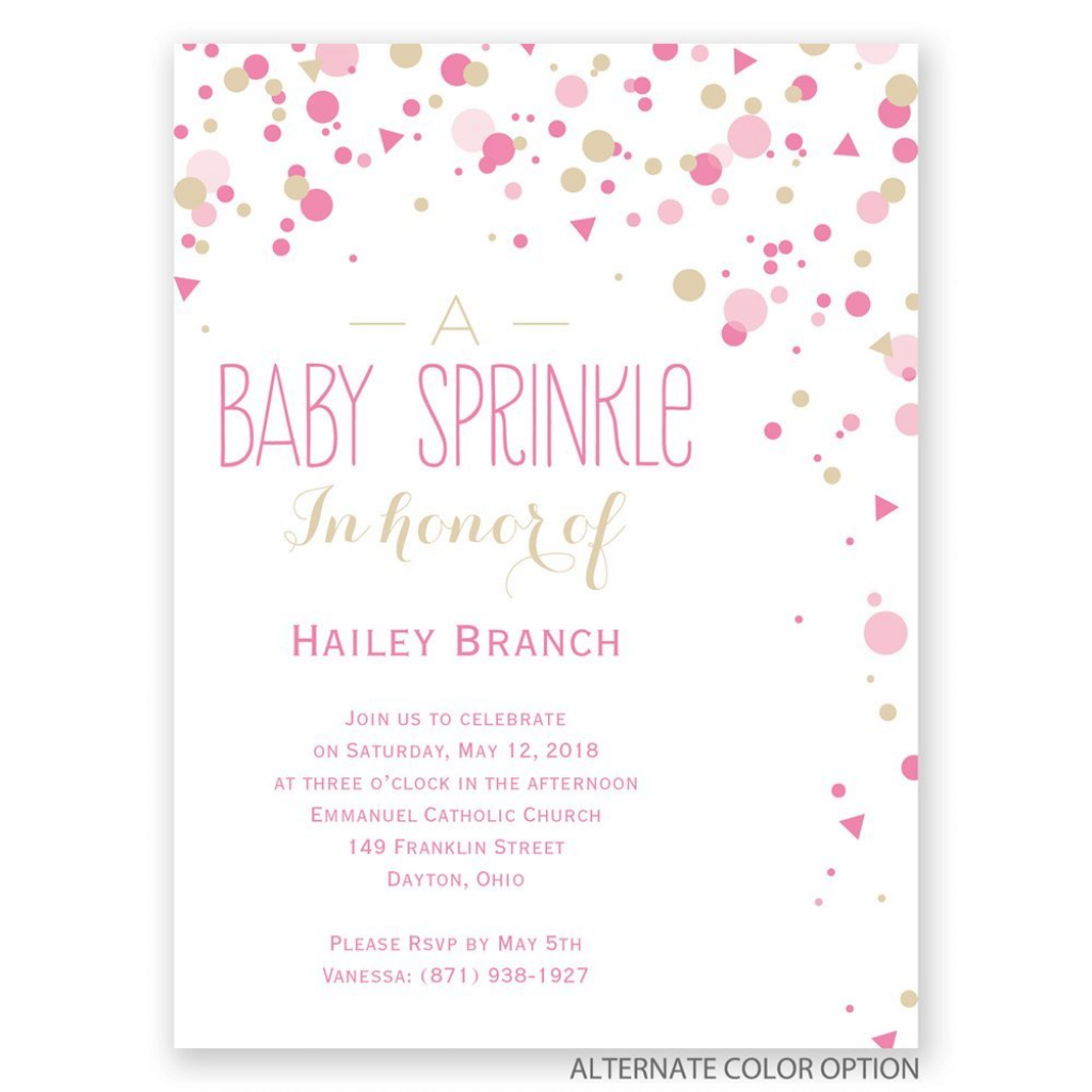 Beautiful Bright Sprinkles Petite Baby Shower Invitation | Invitationsdawn inside Baby Shower Invitations