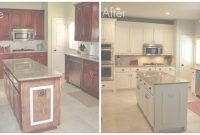 Beautiful Brilliant Design Painted Kitchen Cabinets Before And After Black At within Painted Kitchen Cabinets Before And After