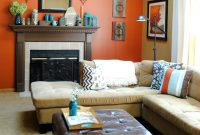 Beautiful Burnt Orange Focal Wall. I Am Going To Do This On My Wall With The inside Luxury Burnt Orange Living Room