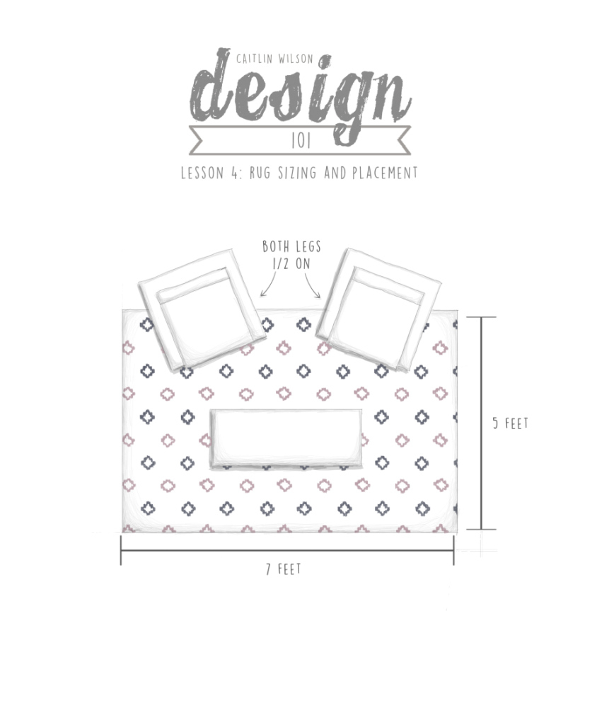 Beautiful Caitlin Wilson | Cw Design 101 | Lesson 4: Rug Sizing And Placement in Elegant Living Room Rug Placement
