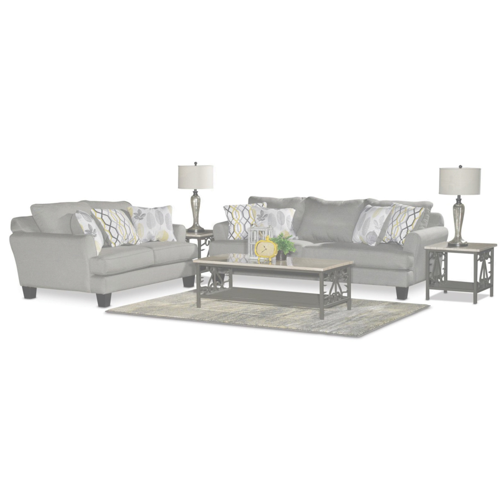 Beautiful Casual Contemporary Gray 7 Piece Living Room Set - Bryn | Rc Willey regarding 7 Piece Living Room Set