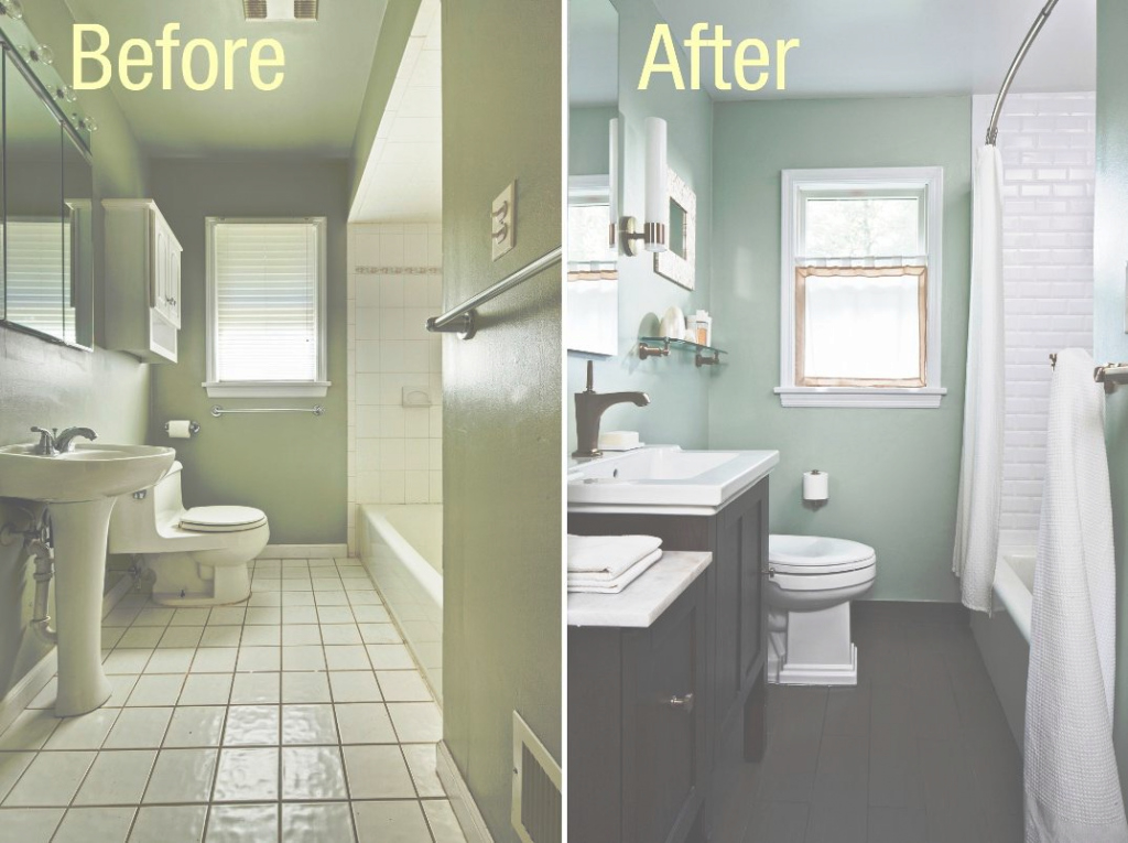 Beautiful Cheapest Bathroom Remodel Before After : Home Reviews - The Cheapest throughout Inexpensive Bathroom Remodel Ideas