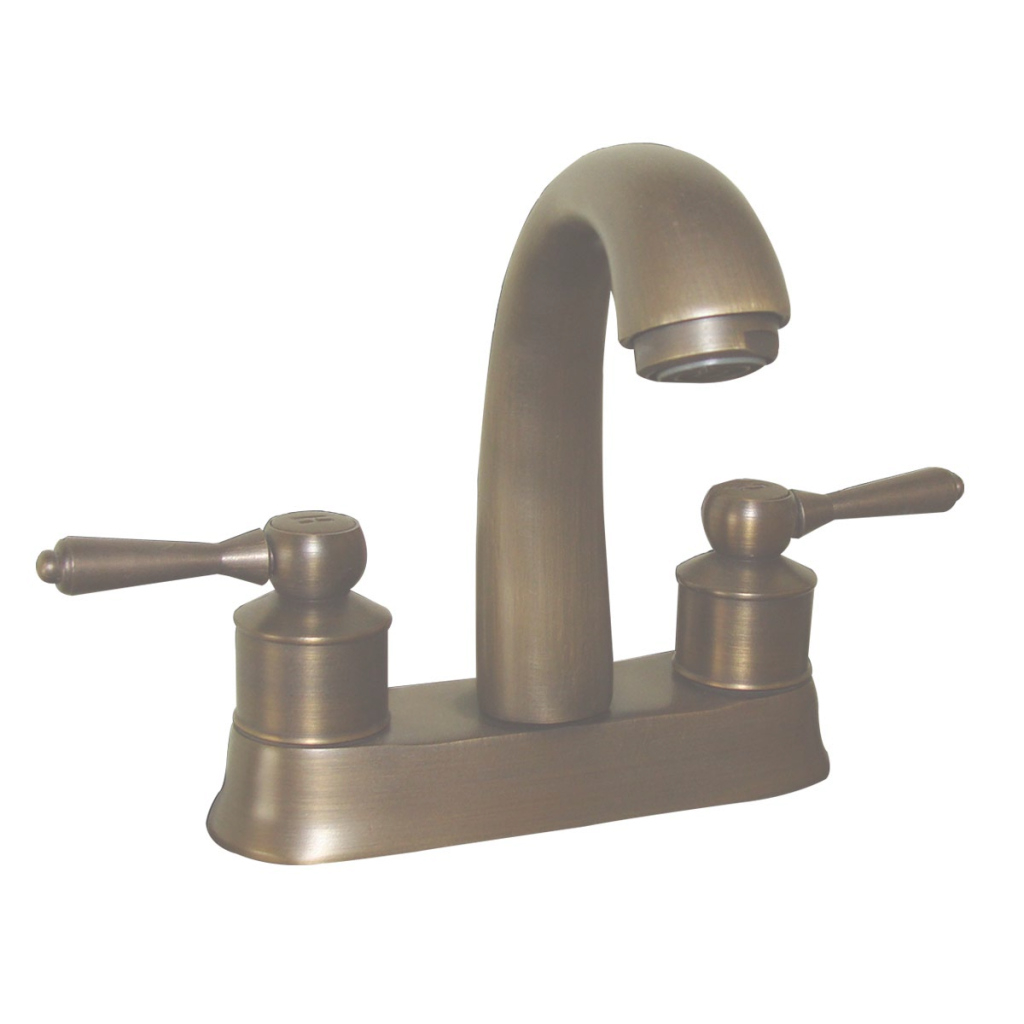 Beautiful Classic Antique Brass Centerset Sink Faucet With 2 Lever in Luxury Brushed Brass Bathroom Faucet