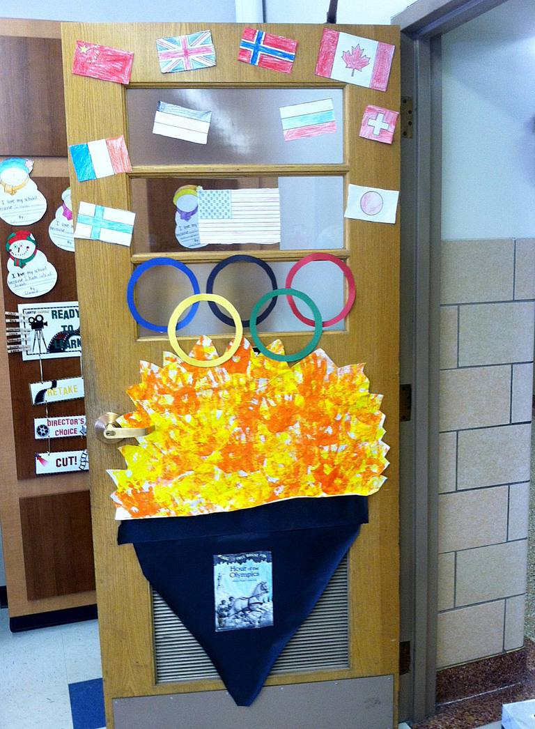 Beautiful Classroom Door Decorations - Ideas For All Seasons within Olympic Themed Decorations
