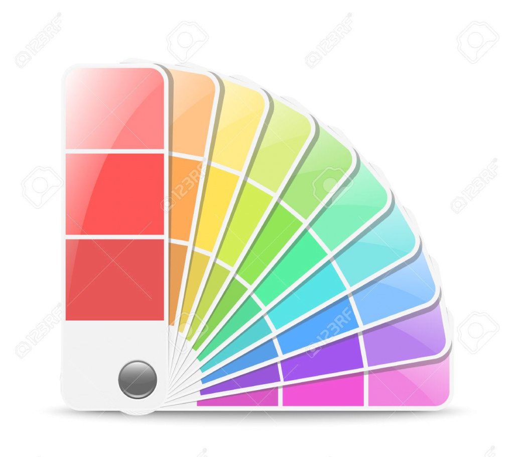 Beautiful Color Palette Icon. Vector Illustration Royalty Free Cliparts with regard to Color Palette Icon