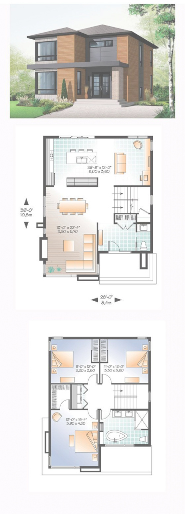 Beautiful Contemporary Modern House Plan 76317 | Pinterest | Modern House in Modern House Floor Plans