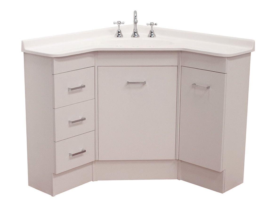 Beautiful Corner Bathroom Vanity Unit