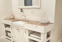Beautiful Cottage Bathroom, Farmhouse Bathroom, Farmhouse Vanity, Farmhouse pertaining to New Farmhouse Sink In Bathroom