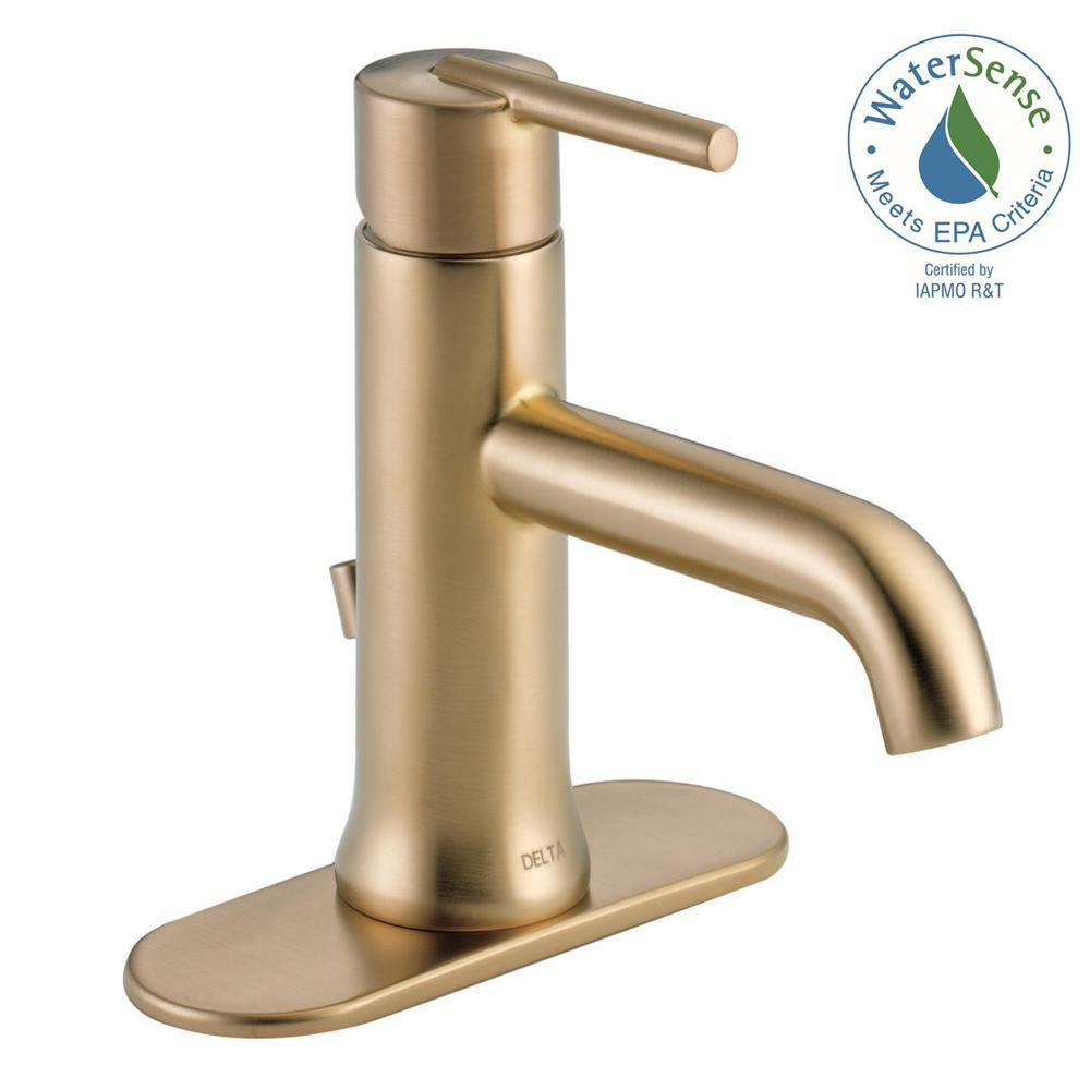 Beautiful Delta Trinsic Single Hole Single-Handle Bathroom Faucet With Metal pertaining to Delta Trinsic Bathroom Faucet