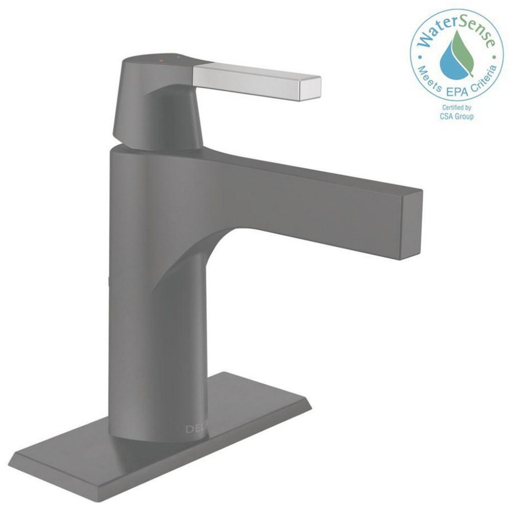 Beautiful Delta Zura Single Hole Single-Handle Bathroom Faucet With Metal throughout Set Black Bathroom Sink Faucet
