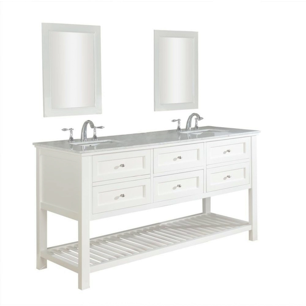 Beautiful Direct Vanity Sink Mission Spa 70 In. Double Vanity In Pearl White pertaining to 70 Inch Bathroom Vanity