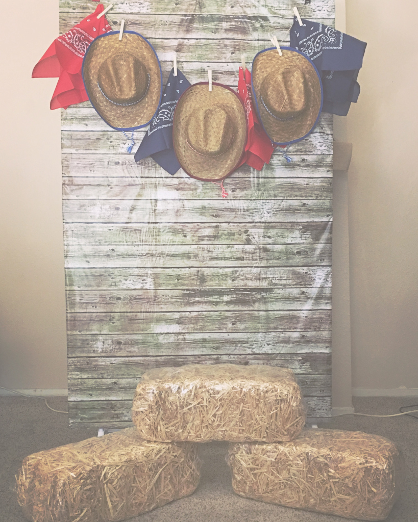 Beautiful Diy Backdrop Out Of A Clothes Rack And Clamps | Western Party regarding Western Theme Decorations