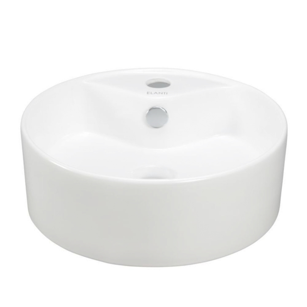 Beautiful Elanti Vessel Above-Counter Round Bowl Bathroom Sink In White-Ec9869 with regard to Fresh Bowl Bathroom Sink