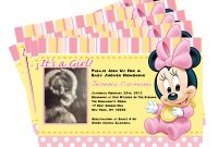 Beautiful Elegant Baby Minnie Mouse Shower Invitations 19 – Wyllieforgovernor for Minnie Mouse Baby Shower Invitations