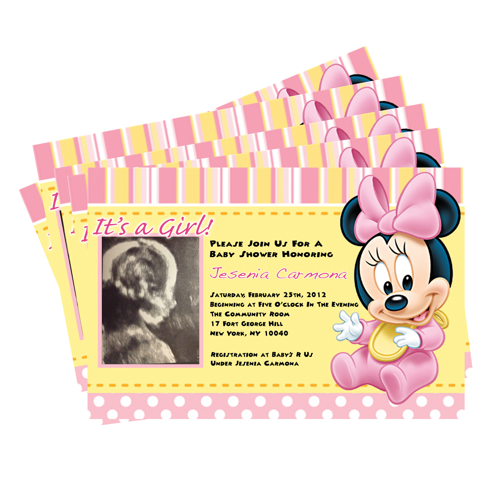 Beautiful Elegant Baby Minnie Mouse Shower Invitations 19 - Wyllieforgovernor for Minnie Mouse Baby Shower Invitations