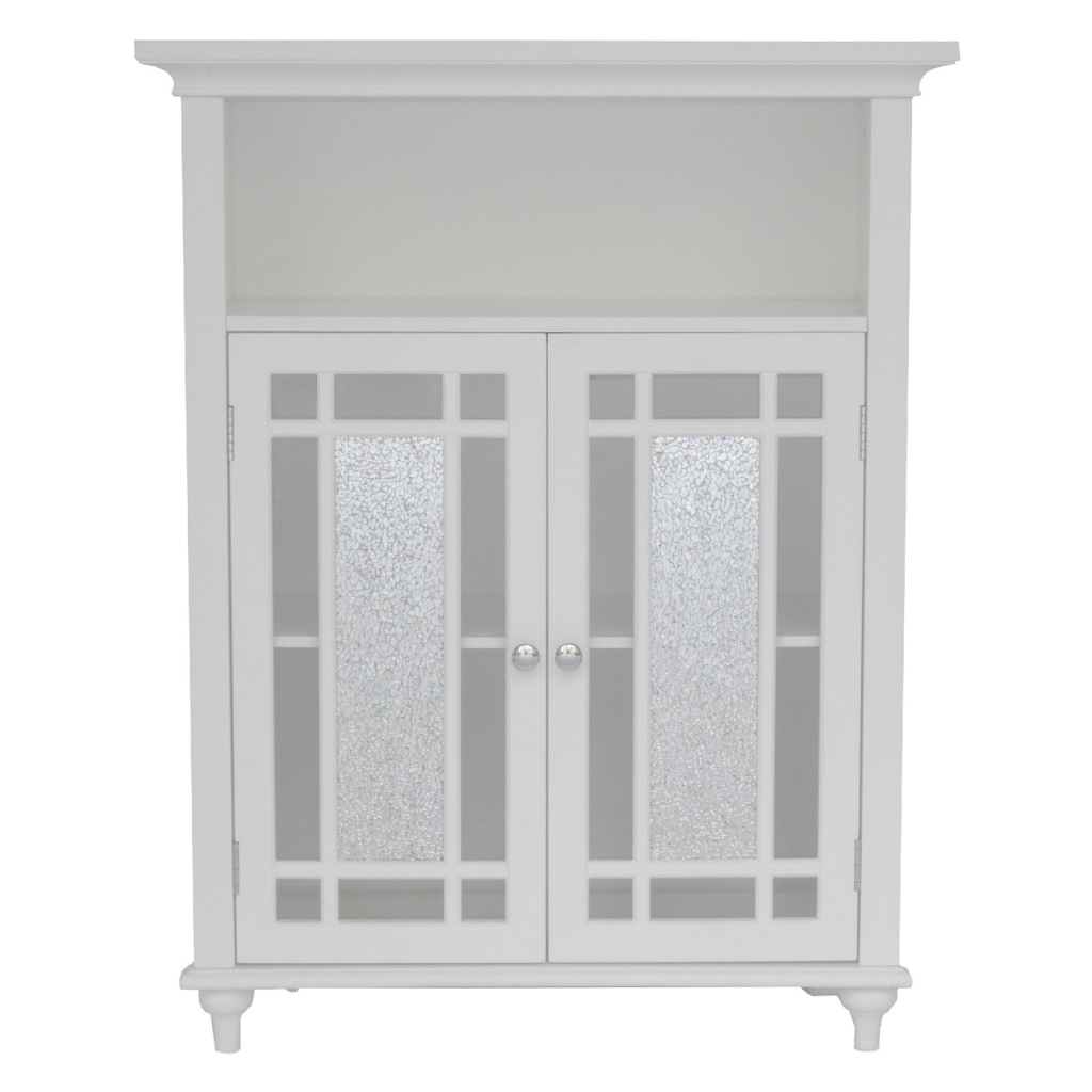 Beautiful Elegant Home Windsor White Bathroom Double Door Floor Cabinet regarding Best of Bathroom Floor Cabinet White