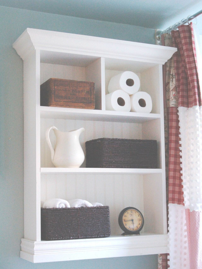Beautiful Exquisite Shelf Home Cottage Bathroom Storage Cabinet Hgtv Shelf regarding Bathroom Shelf Decorating Ideas