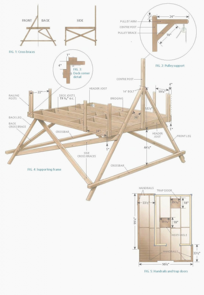 Beautiful Free Treehouse Plans Fresh Building A Easy Treehouse – Www.thewbba intended for Inspirational Easy Treehouse Plans Free