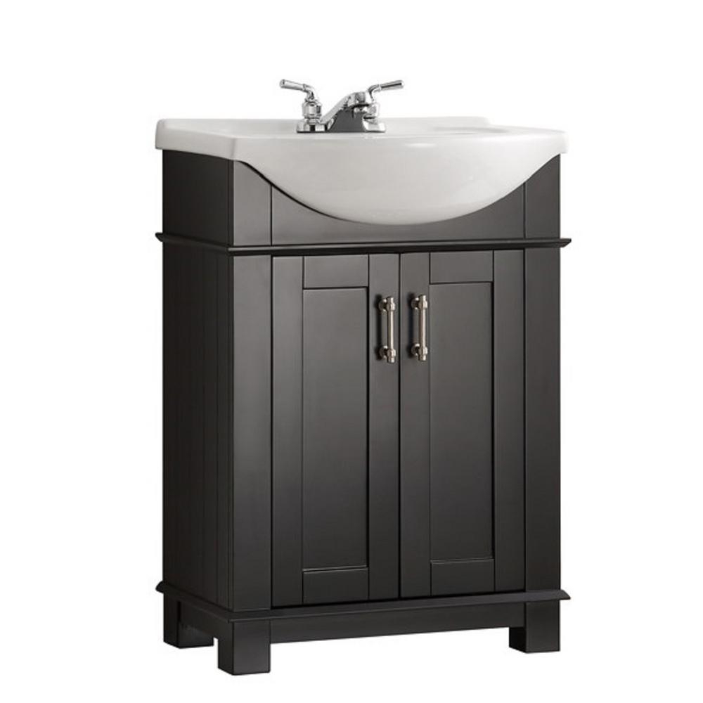 Beautiful Fresca Hudson 24 In. W Traditional Bathroom Vanity In Black With for Traditional Bathroom Vanity