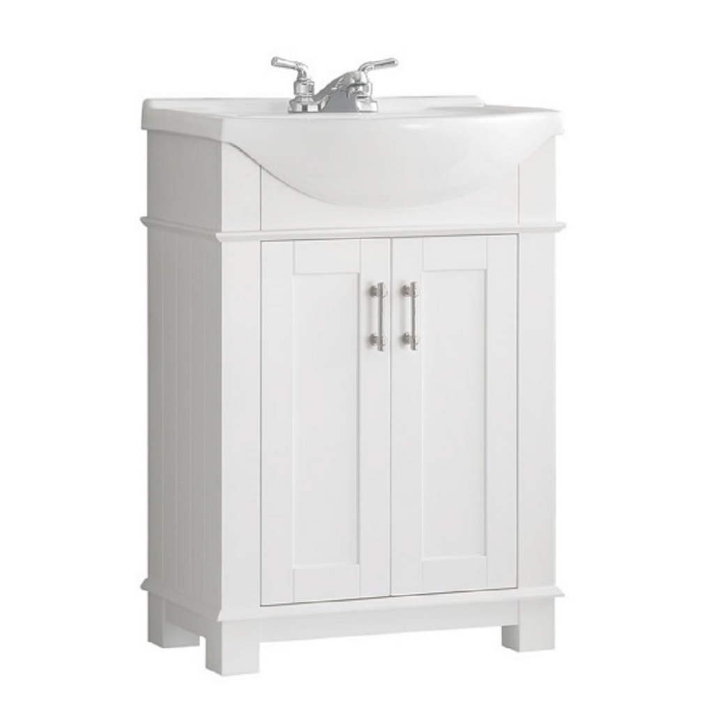 Beautiful Fresca Hudson 24 In. W Traditional Bathroom Vanity In White With intended for 24 Bathroom Vanity And Sink