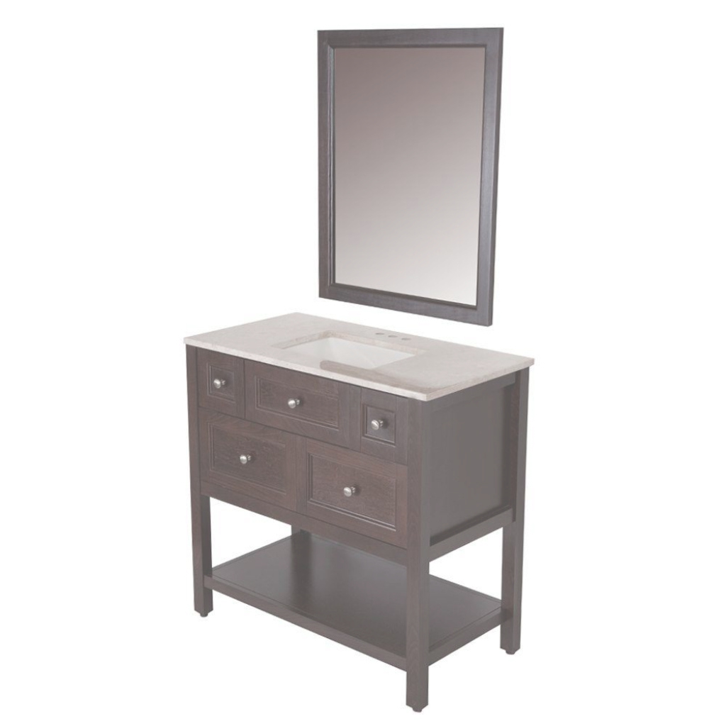Beautiful Glacier Bay Ashland 36 In. W X 19 In. D Bath Vanity In Chocolate pertaining to Beautiful Bathroom Vanities At Home Depot