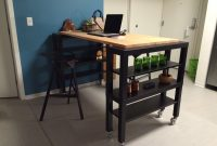 Beautiful High-Top Gerton Slab Kitchen Island – Ikea Hackers within Lovely Ikea Hack Kitchen Island