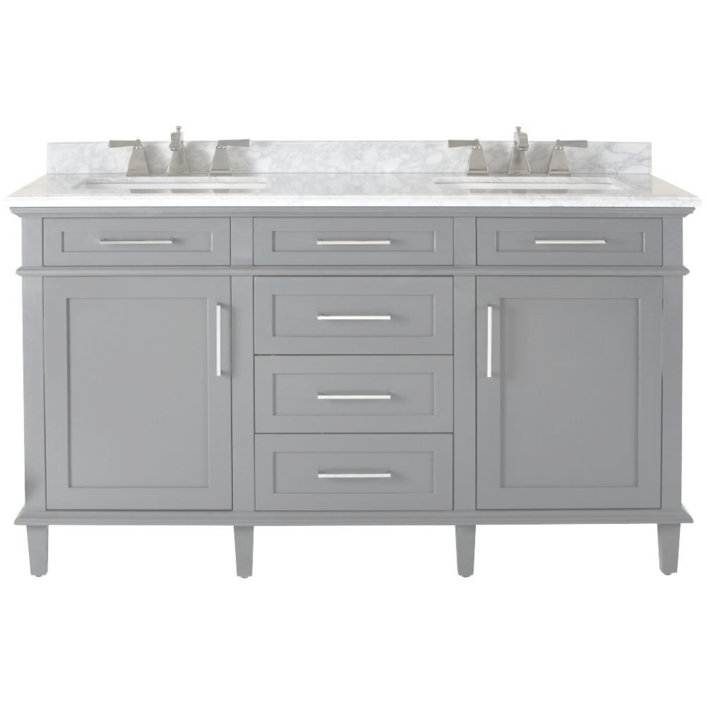 Beautiful Home Decorators Collection Sonoma 60 In. W X 22 In. D Double Bath intended for Home Depot Bathroom Vanity Sale