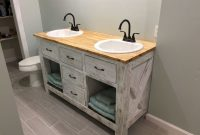 Beautiful Home Design : Bathroom Vanity Farmhouse Style Also Brilliant in Farmhouse Style Bathroom Vanity